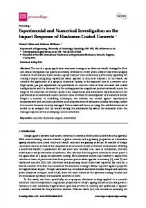 Experimental and Numerical Investigation on the Impact Response of ...