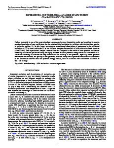experimental and theoretical analysis of low-energy co + h2 inelastic ...