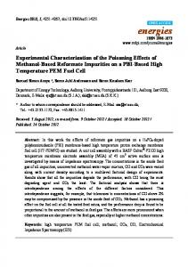 Experimental Characterization of the Poisoning Effects of Methanol