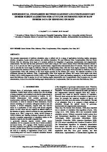experimental comparison between mahoney and ... - ISPRS Archives