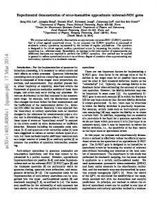 Experimental demonstration of error-insensitive approximate universal ...