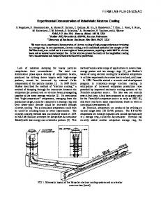 Experimental Demonstration of Relativistic Electron Cooling ...