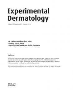 Experimental Dermatology - Wiley Online Library