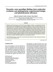 experimental design and phylodynamic inference - Semantic Scholar