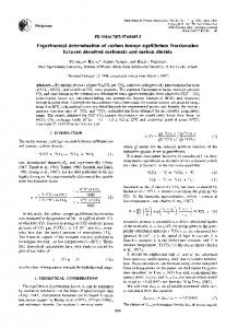 Experimental determination of carbon isotope ... - Science Direct