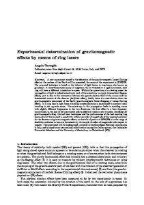 Experimental determination of gravitomagnetic effects