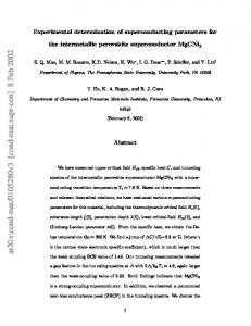 Experimental determination of superconducting parameters for the ...
