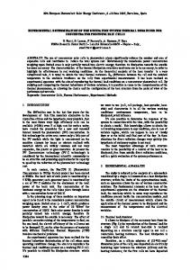 EXPERIMENTAL DETERMINATION OF THE ...