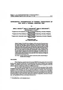 Experimental determination of thermal conductivity ... - Thermal Science