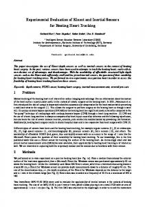 Experimental Evaluation of Kinect and Inertial Sensors for ... - KIT ISAS