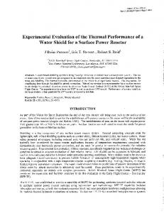 Experimental Evaluation of the Thermal Performance ...