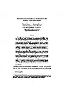 Experimental Evaluation of the Tolerance for Control-Flow Test