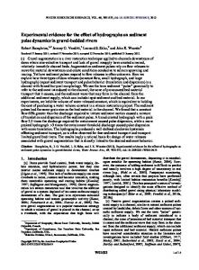 Experimental evidence for the effect of hydrographs on sediment ... - Sfu