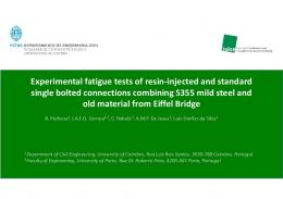 Experimental fatigue tests of resin-injected and