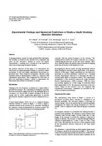 Experimental Findings and Numerical Predictions of ... - UQ eSpace