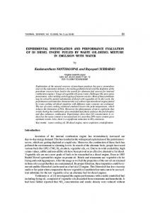 Experimental investigation and performance ... - Thermal Science