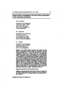 Experimental investigation for the friction evaluation in