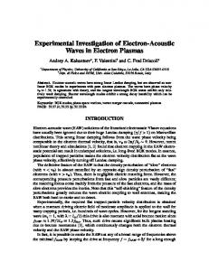 Experimental Investigation of Electron-Acoustic Waves in Electron ...