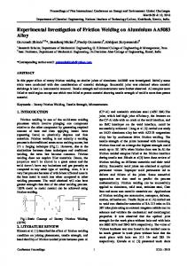 Experimental Investigation of Friction Welding on ...