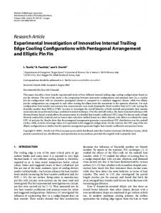Experimental Investigation of Innovative Internal ... - FloRe - UniFI