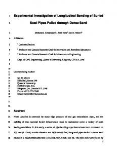 Experimental Investigation of Longitudinal Bending of ...