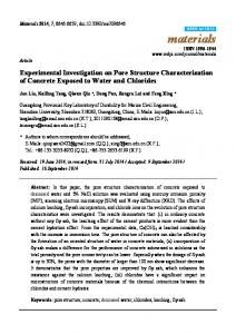 Experimental Investigation on Pore Structure ... - Semantic Scholar