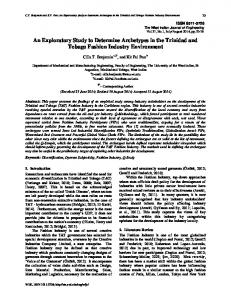 Experimental Investigations into Manufacturing ... - UWI St. Augustine