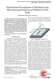 Experimental Investigations of Mechanical and Microstructural ... - ijitee