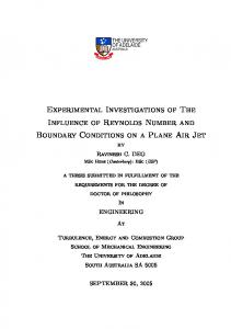 Experimental Investigations of The Influence of ...