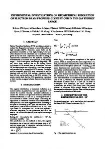 Experimental Investigations on Geometrical Resolution of Electron