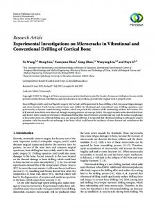 Experimental Investigations on Microcracks in Vibrational and ...