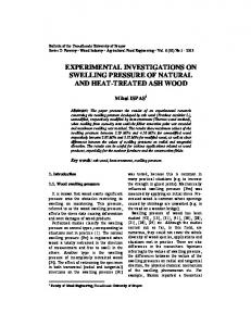 experimental investigations on swelling pressure of natural and heat
