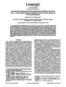 Experimental Measurement and Thermodynamic Modeling of the ...