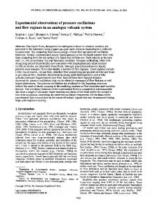 Experimental observations of pressure ... - Wiley Online Library