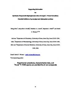 Experimental procedures, characterization data ... - Beilstein Journals