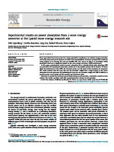 Experimental results on power absorption from a