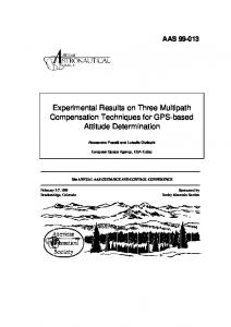 Experimental Results on Three Multipath Mitigation Techniques for ...
