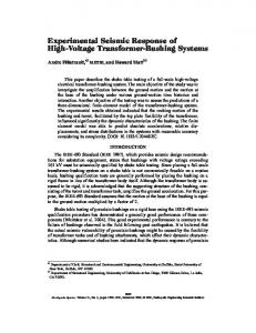 Experimental Seismic Response of High-Voltage Transformer ...