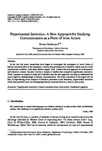 Experimental Semiotics: A New Approach for ... - Wiley Online Library