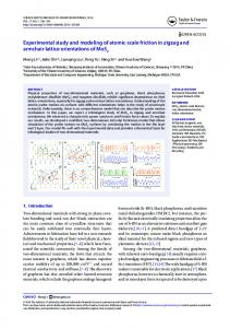 Experimental study and modeling of atomic-scale