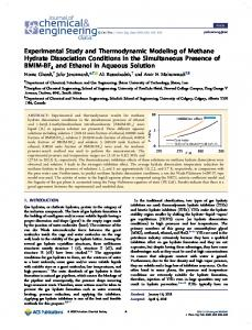 Experimental Study and Thermodynamic Modeling of Methane ...