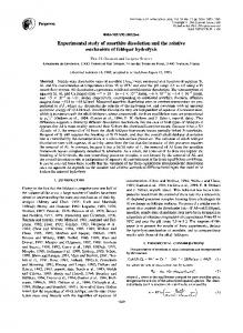 Experimental study of anorthite dissolution and the ... - Science Direct