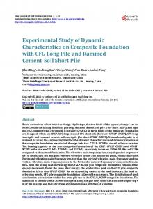 Experimental Study of Dynamic Characteristics on ...