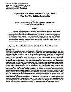 Experimental Study of Electrical Properties of (PVA