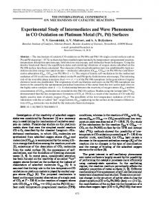 Experimental Study of Intermediates and Wave ... - Springer Link