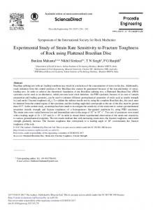 Experimental Study of Strain Rate Sensitivity to ... - ScienceDirect