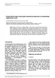 Experimental study of the hydro-mechanical behaviour of unsaturated ...