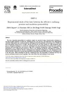 Experimental Study of the Laws Between the Effective ... - Science Direct
