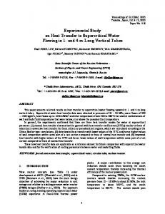 Experimental Study on Heat Transfer to Supercritical