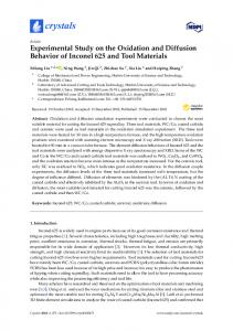 Experimental Study on the Oxidation and Diffusion Behavior of ... - MDPI